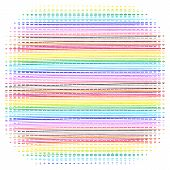 Bright Color Horizontal Dotted Lines Pattern