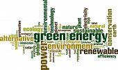 Green Energy Word Cloud