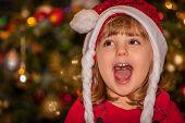 Happy Christmas girl