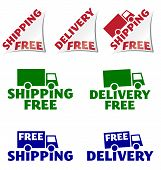 shipping free, delivery free icons