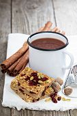 Baked oatmeal with cranberry and pumpkin seeds