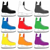 Ice Skates In Different Colours