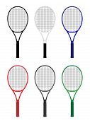 Tennis Rackets In Different Colours