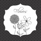 picture of obituary  - flowers design over   dotted  background vector illustration - JPG