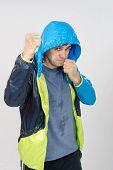 stock photo of wet pants  - People in sportivnoi clothing is preparing to strike - JPG