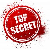 picture of top-secret  - Top secret red rubber stamp - JPG