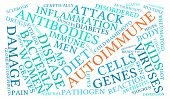 picture of endocrine  - Autoimmune word cloud on a white background - JPG