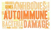 stock photo of endocrine  - Autoimmune word cloud on a white background - JPG