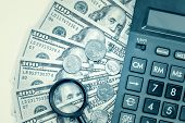 pic of financial audit  - Business accounting or financial audit  - JPG