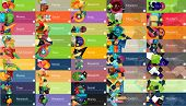 picture of universal sign  - Mega collection of vector flat web infographic concepts and banners - JPG