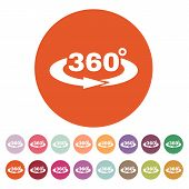 picture of degree  - The Angle 360 degrees icon - JPG