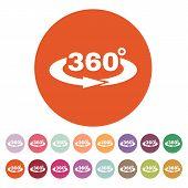 stock photo of degree  - The Angle 360 degrees icon - JPG