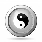 stock photo of ying yang  - Ying yang icon - JPG
