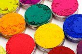 image of holi  - Colorful background made of Indian Holi festival colours - JPG
