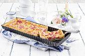 picture of tarts  - Rhubarb Tart - JPG