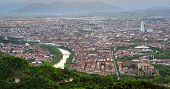 pic of turin  - Turin (Torino) panorama from Superga hills at sunset