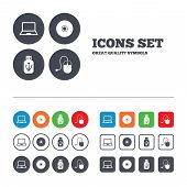 pic of usb flash drive  - Notebook pc and Usb flash drive stick icons - JPG