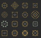 stock photo of boutique  - Set of Vintage Frames for Luxury Logos - JPG