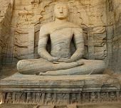 stock photo of vihara  - Polonnaruwa ruin was the second capital of Sri Lanka after the destruction of Polonnaruwa - JPG