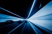 pic of speeding car  - speeding car through the tunnel - JPG