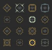 stock photo of flourish  - Set of Vintage Frames for Luxury Logos - JPG