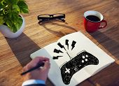 picture of controller  - Game Controller Joystick Console Control Concept - JPG