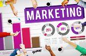stock photo of anal  - Marketing Distributing Analysing Data Bar Graph Concept - JPG