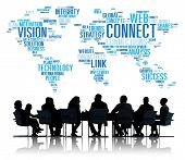 stock photo of socialism  - Connection Social Media Internet Link Networking Concept - JPG