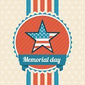 pic of memorial  - Memorial Day design over beige background - JPG