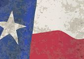 foto of texas star  - The flag of the USA state of TEXAS with grunge effect - JPG