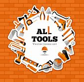 picture of nail-design  - Buildings tools icons set - JPG
