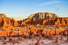 picture of goblin  - geological formations in Goblin Valley State Park Utah - JPG