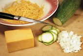 Cheese With Zucchini And Onion