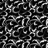 Seamless background black and white
