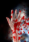 picture of serial killer  - The hand of a serial killer covered in blood - JPG