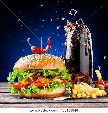 Burger And Cola