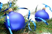 Blaue Weihnachten Zwiebel