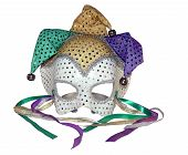 picture of mardi gras mask  - a isolated photo of a carnival mask on a white background - JPG