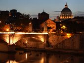 Rome And Vatican At Night