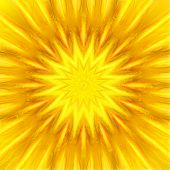 pic of sun rays  - hot sun with the yellow color generated by somputer - JPG