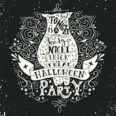 ������, ������: Halloween Party Poster With An Old Owl