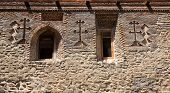 Stone Wall Of David Gareja Monastery. Georgia.