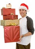 Casual Santa Claus With Gifts