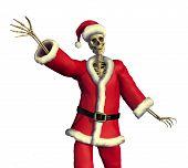 Friendly Skeleton Santa