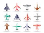 different types of plane icons