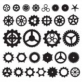 Постер, плакат: Steampunk collection machine gear wheel cogwheel vector set of gear wheels collection of vector g