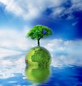 Green Planet - Green Ecology Concept For Your Design
