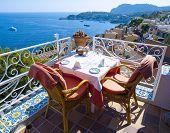 Restaurant Balcony In Mallorca