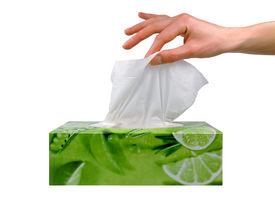 stock photo of tissue box  - delicate woman - JPG