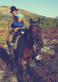 image of mongolian  - Mongolian Tsataan Horse Equestrian Remote Rural Concept - JPG